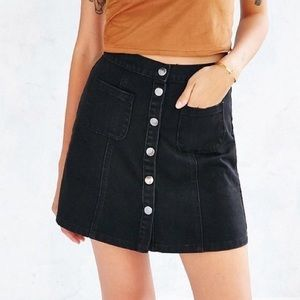 BDG Urban Outfitters A-line button front skirt